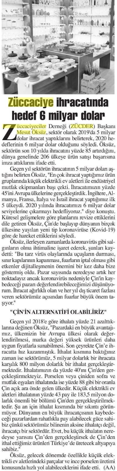 ZÜCDER BAŞKENT ANKARA 16.03.2020