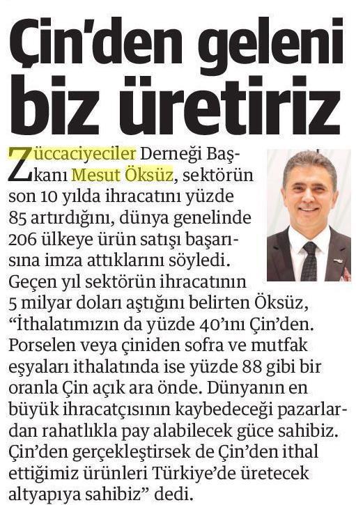 ZÜCDER YENİ ŞAFAK 16.03.2020