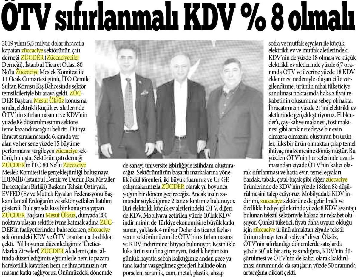 Zücder Bursa A Gazete 13.01.2020