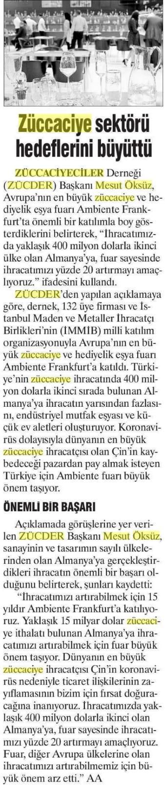 Zücder Günboyu 14.02.2020