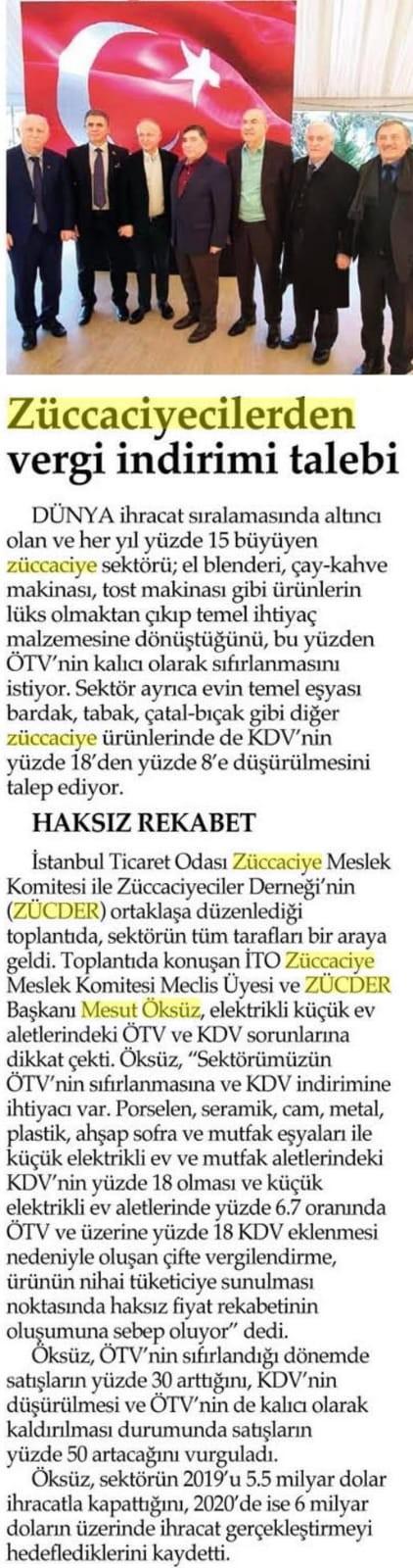 Zücder İstanbul Ticaret Gazetesi 21.01.2020