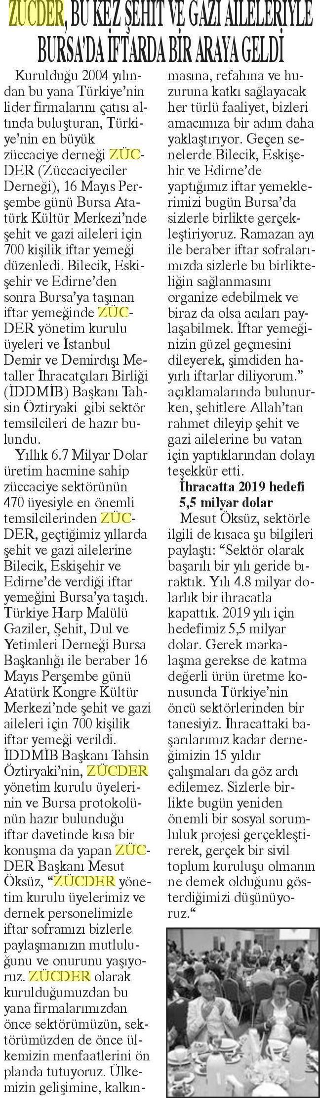 Zücder Yurt Haber 11.06.2019